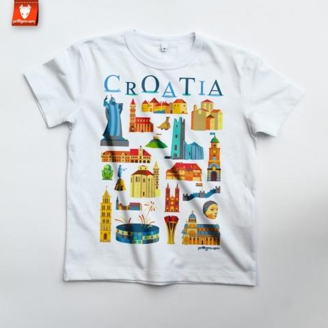croatia-gradovi-djecja-majica